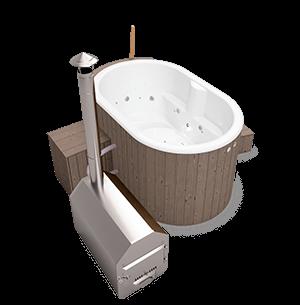 Hot Tub Opal - oval mit externem Ofen