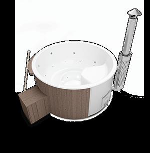 Hot Tub Saphir mit internem Holzofen
