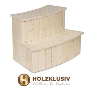Holzklusiv Hot Tub Holztreppe Fichte