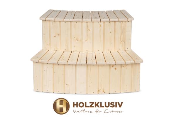 Holzklusiv Hot Tub Treppe Fichte