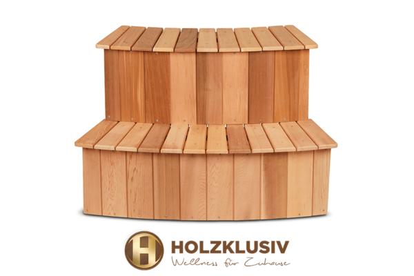 Holzklusiv Hot Tub Holztreppe Rote Zeder