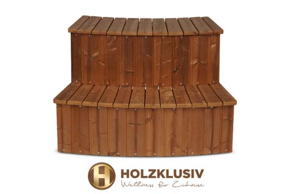 Holzklusiv Holztreppe Hot Tub Thermoholz